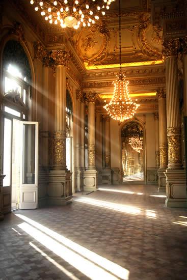 The Salon Dorado, or Golden Hall at the Colon Theater