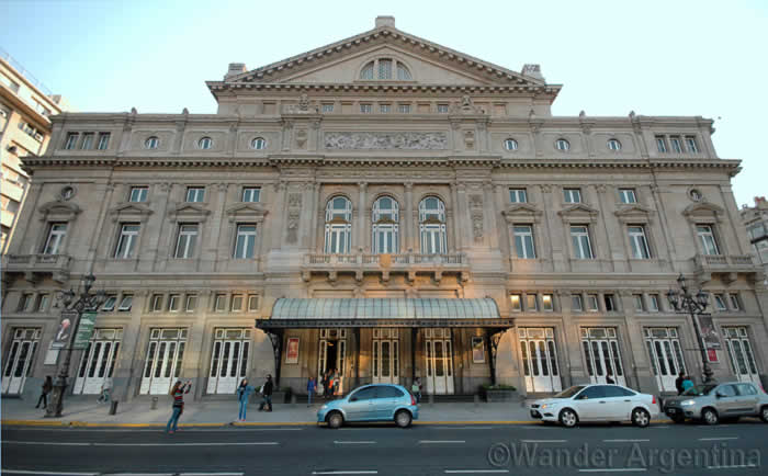 The Colón Theater in Buenos Aires as seen from 9 de Julio
