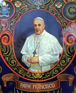 Fileteo depiction of Pope Francis