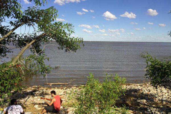 The beach area in Buenos Aires Ecological Reservation along the River Plate.