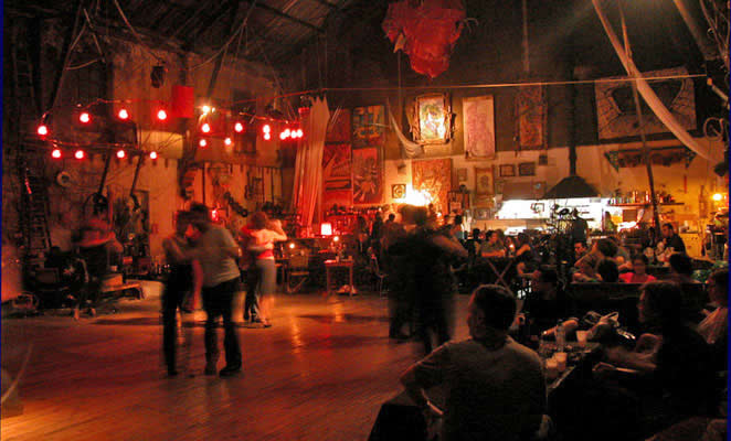 The dance floor at the popular Buenos Aires milonga, La Catedral de Tango