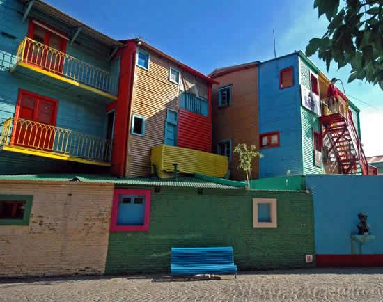 A colorful street in La Boca, Buenos Aires