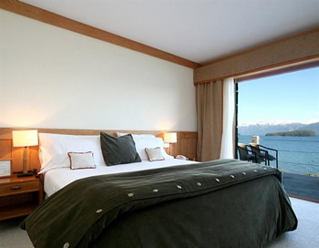 A suite with a view at Correntoso Lake and River Hotel