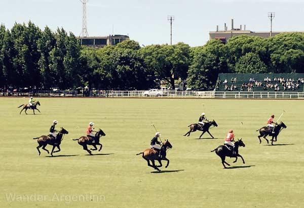 A polo match at Palermo's Campo de Polo