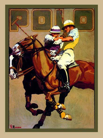 A vintage polo poster