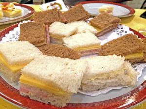 Argentine migas, mini crustless sandwiches