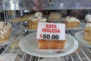 The classic Argentine dessert Sopa Inglesa