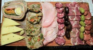 A 'picada' as served in Argentina. IT is a platter of cold cuts and cheese