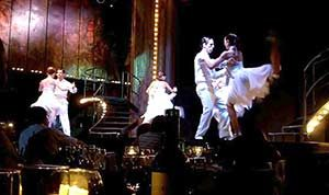 Dancers onstage at the Madero Tango Show