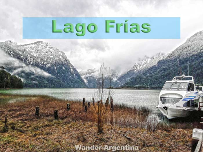 Lake Frías, a small emerald lake in Patagonia that is part of the Andean Lakes Crossing Tour