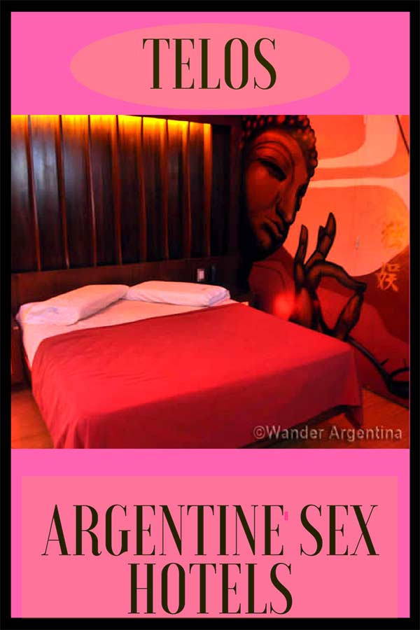 A picture of a telo, or sex hotel room in Buenos Aires, Argentina with an overlay of the words 'Telos: Argentine Sex Hotels""