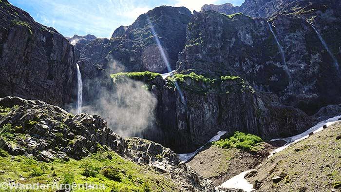 The Garganta del Diablo, or 'Devil's Throat' waterfall on Mount Tronador in Nahuel Huapi National Park in Argentina's section ofPatagonia
