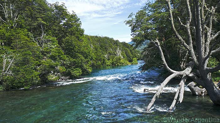 The Manso River in Patagonia as seen from Los Rapidos Campground on the way to Mount Tronador