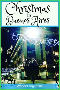 Buenos Aires' Florida Street with lights during the Christmas Holiday Season