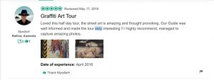 A screenshot of a review on Trip Advisor that is left for the wrong company but has remained on the page ofr years.