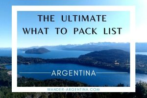 What to pack for Argentina list