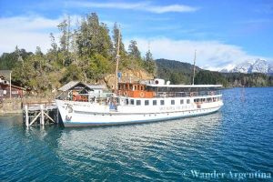 The famous boat, The Modesta Victoria goes to Isla Victoria and is a popular excursion in Bariloche