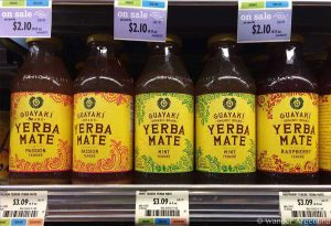 Carbonated yerba mate soda in a North American supermarket