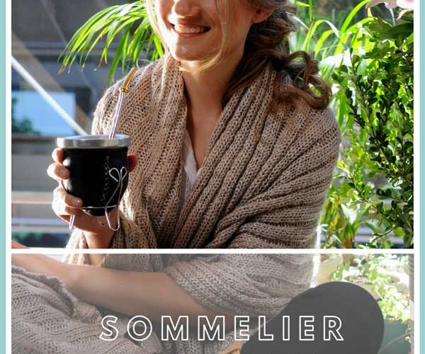Sommelier of mate pin