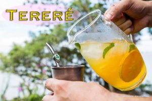 A picture of cold mate drink, terere