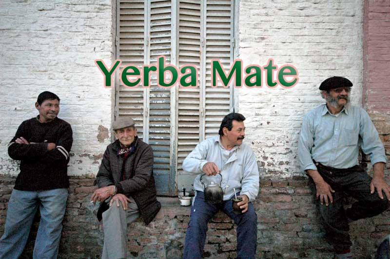 Men drinking yerba mate tea in Argentina