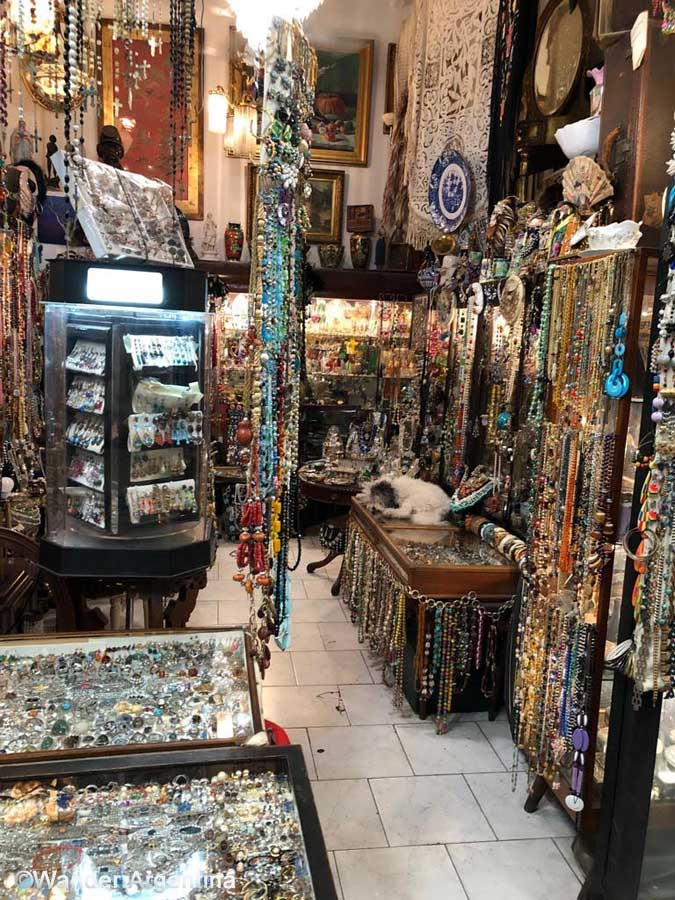 A jewelry store in San Telmo market