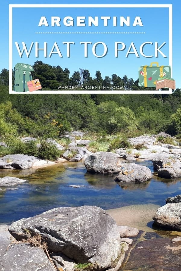 A picture of Cordoba countryside with 'What to Pack' title